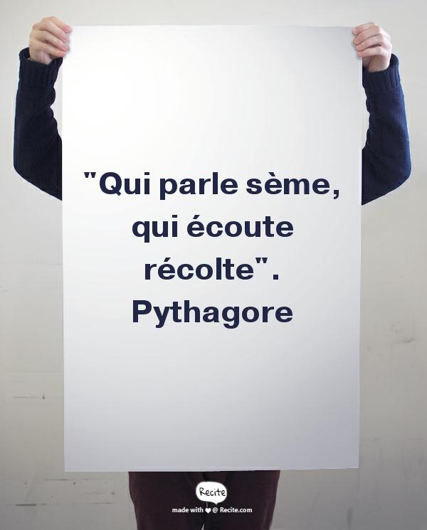 Pythagore, écoute la musique